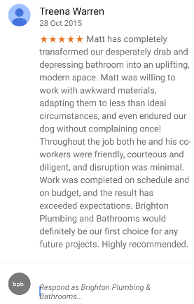 bathroom installation brighton